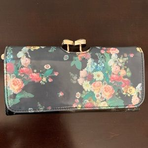 Ted Baker Floral Patent Leather Wallet